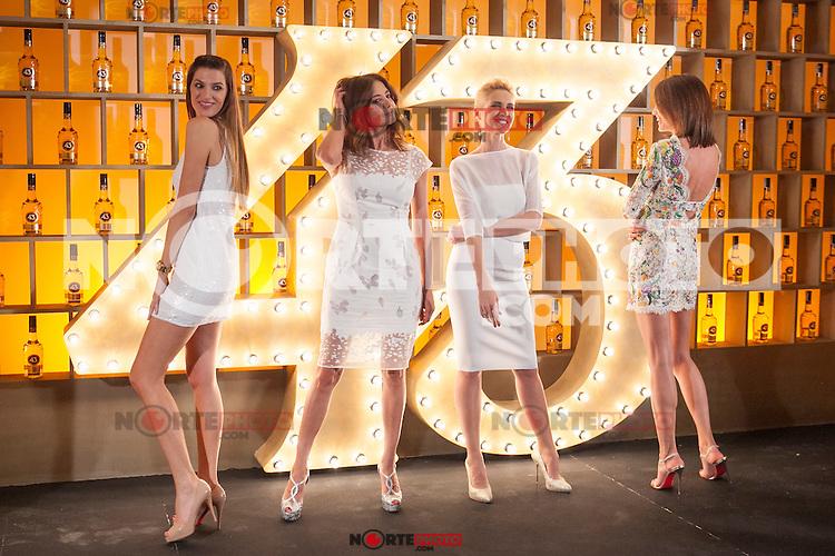 Spanish models (L-R) Laura Sanchez, Jose Toledo, Judit Masco and Nieves Alvarez pose during Licor 43 presentation in Madrid, Spain. January 29, 2015. (ALTERPHOTOS/Victor Blanco) /nortephoto.com<br /> nortephoto.com