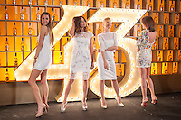 Spanish models (L-R) Laura Sanchez, Jose Toledo, Judit Masco and Nieves Alvarez pose during Licor 43 presentation in Madrid, Spain. January 29, 2015. (ALTERPHOTOS/Victor Blanco) /nortephoto.com<br />