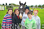 Nicole Moriarty, Rachel Evans, Shauna Moriarty, Barry Moriarty and Doireann O'Connell enjoying at the Killorglin Pony Show on Sunday.