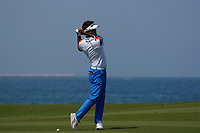 Taehee Lee (KOR) on the 9th during Round 3 of the Oman Open 2020 at the Al Mouj Golf Club, Muscat, Oman . 29/02/2020<br /> Picture: Golffile   Thos Caffrey<br /> <br /> <br /> All photo usage must carry mandatory copyright credit (© Golffile   Thos Caffrey)