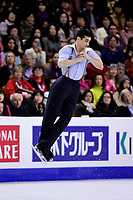 Friday, April 1, 2016: Javier Fernandez (ESP) skates in the Men's Free Skating Program at the International Skating Union World Championship held at TD Garden, in Boston, Massachusetts. Javier Fernandez  defended his title winning the 2016 ISU World Figure Skating Championship. Eric Canha/CSM