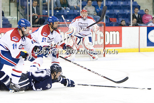 Scott Campbell (Lowell - 15), Blake Kessel (UNH - 20), Ryan Blair (Lowell - 26) (Hutton) - The University of Massachusetts-Lowell River Hawks defeated the University of New Hampshire Wildcats 6-3 on Sunday, November 8, 2009, at Tsongas Arena in Lowell, Massachusetts.