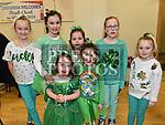 Orla and Eimear McDermott, Ella and Leah Gargan, Tori and Daisy Cuddy and Aisling Kennedy at the Comhaltas Céilí in Ballsgrove Community Centre. Photo:Colin Bell/pressphotos.ie