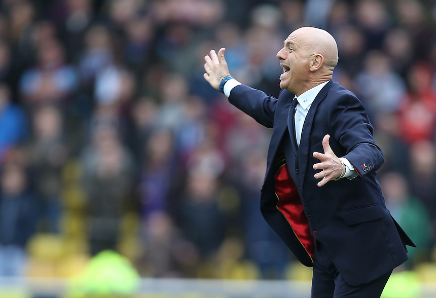 Watford's Manager Giuseppe Sannino <br /> Photo by Kieran Galvin/CameraSport<br /> <br /> Football - The Football League Sky Bet Championship - Watford v Burnley - Saturday 5th April 2014 - Vicarage Road - Watford<br /> <br /> &copy; CameraSport - 43 Linden Ave. Countesthorpe. Leicester. England. LE8 5PG - Tel: +44 (0) 116 277 4147 - admin@camerasport.com - www.camerasport.com