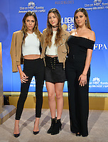 Miss Golden Globe trio Sistine Stallone, Scarlet Stallone &amp; Sophia Stallone - daughters of Sylvester Stallone &amp; Jennifer Flavin - at the nominations announcement for the 74th Golden Globe Awards at the Beverly Hilton Hotel, Beverly Hills, CA.<br /> December 12, 2016<br /> Picture: Paul Smith/Featureflash/SilverHub 0208 004 5359/ 07711 972644 Editors@silverhubmedia.com