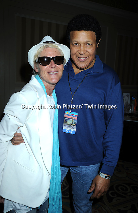Alley Mills and Chubby Checker at the Sway Gift Suite for the Daytime Emmy Awards on June 27, 2010 at The Hilton in Las Vegas, Nevada.