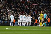 6th December 2017, Santiago Bernabeu, Madrid, Spain; UEFA Champions League football, Real Madrid versus Dortmund; Borja Mayoral (21) Real Madrid celebrates  after scoring his team´s 1st goal