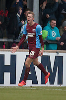 Kevin Van Veen of Scunthorpe Utd<br />  - Scunthorpe United vs Swindon Town - Sky Bet League One Football at Glanford Park, Scunthorpe, Lincolnshire - 14/02/15 - MANDATORY CREDIT: Mark Hodsman/TGSPHOTO - Self billing applies where appropriate - contact@tgsphoto.co.uk - NO UNPAID USE