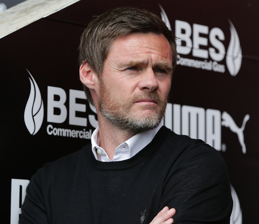 \Fleetwood Town manager Graham Alexander <br /> <br /> Photographer Stephen White/CameraSport<br /> <br /> Football - The Football League Sky Bet League One - Fleetwood Town v Colchester United - Saturday 22nd August 2015 - Highbury Stadium - Fleetwood<br /> <br /> &copy; CameraSport - 43 Linden Ave. Countesthorpe. Leicester. England. LE8 5PG - Tel: +44 (0) 116 277 4147 - admin@camerasport.com - www.camerasport.com