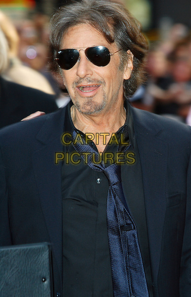 "AL PACINO.""Righteous Kill"" UK film premiere, Empire Leicester Square, London, England..September 14th, 2008.half length black suit sunglasses shades black suit jacket mouth open goatee facial hair .CAP/ROS.©Steve Ross/Capital Pictures."