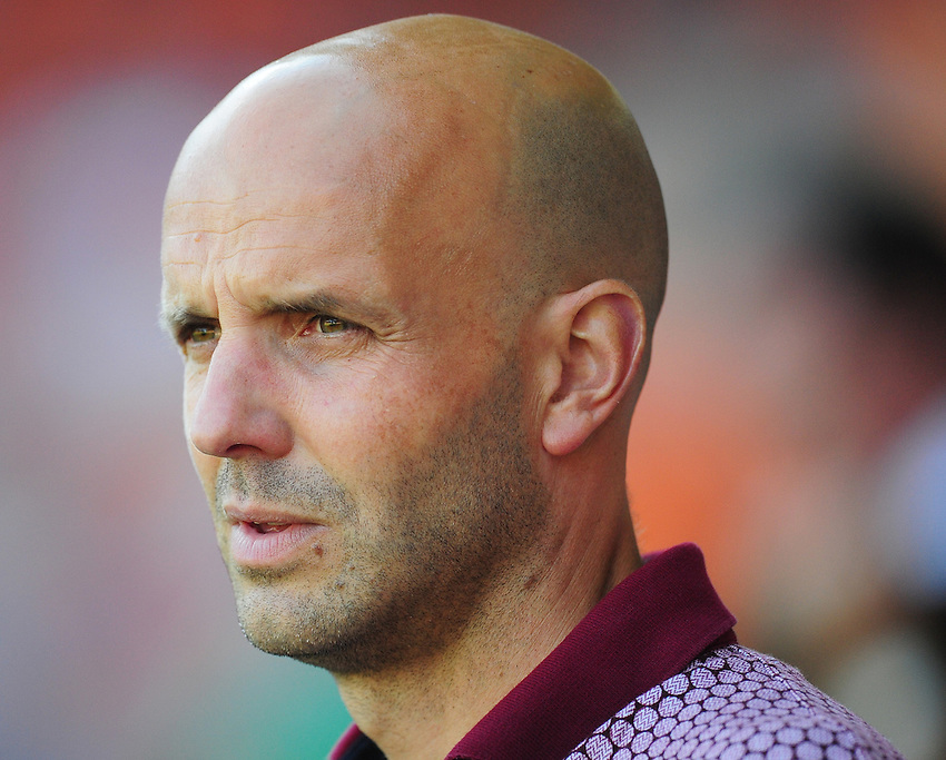 Exeter City manager Paul Tisdale <br /> <br /> Photographer Kevin Barnes/CameraSport<br /> <br /> Football - The EFL Sky Bet League Two - Blackpool v Exeter City - Saturday 6th August 2016 - Bloomfield Road - Blackpool<br /> <br /> World Copyright &copy; 2016 CameraSport. All rights reserved. 43 Linden Ave. Countesthorpe. Leicester. England. LE8 5PG - Tel: +44 (0) 116 277 4147 - admin@camerasport.com - www.camerasport.com