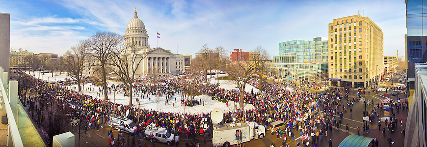 "This panoramic image was selected for the ""Signs of Protest"" juried exhibition at the Center for Photography at Madison in June, 2011."