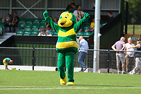 The Horsham mascot celebrates his goal in the half time brake during Horsham vs Hartley Wintney, Friendly Match Football at Hop Oast on 13th July 2019
