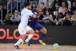 League LNFS 2017/2018 - Game 18.<br /> FC Barcelona Lassa vs Catgas Energia: 2-2.<br /> Javi Rodriguez vs Leo Santana.
