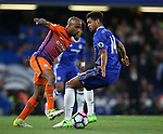 Chelsea's Ruben Loftus-Cheek tussles with Manchester City's Fabien Delph during the Premier League match at the Stamford Bridge Stadium, London. Picture date: April 5th, 2017. Pic credit should read: David Klein/Sportimage
