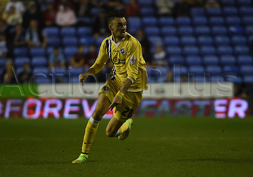 16.09.2014.  Reading, England. Sky Bet Championship. Reading versus Millwall. Malone in action for Milwall
