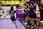 Japan team group (JPN), <br /> AUGUST 30, 2018 - Handball : <br /> Women's Bronze Medal Match <br /> between Japan 43-14 Thailand <br /> at GOR Popki Cibubur <br /> during the 2018 Jakarta Palembang Asian Games <br /> in Jakarta, Indonesia. <br /> (Photo by Naoki Nishimura/AFLO SPORT)