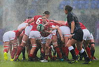 9th February 2020; Energia Park, Dublin, Leinster, Ireland; International Womens Rugby, Six Nations, Ireland versus Wales; Keira Bevan of Wales passes the ball out of the ruck
