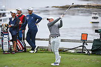 Rory McIlroy (NIR) watches his tee shot on 7 during round 2 of the 2019 US Open, Pebble Beach Golf Links, Monterrey, California, USA. 6/14/2019.<br /> Picture: Golffile | Ken Murray<br /> <br /> All photo usage must carry mandatory copyright credit (© Golffile | Ken Murray)