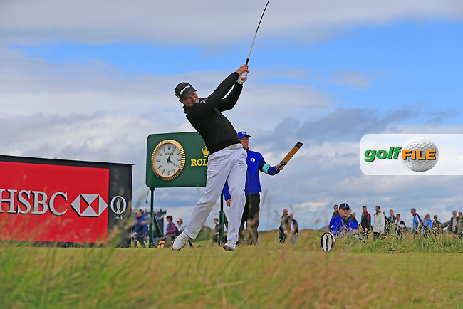Padraig HARRINGTON (IRL) tees off during Sunday's Round 3 of the 144th Open Championship, St Andrews Old Course, St Andrews, Fife, Scotland. 19/07/2015.<br /> Picture Eoin Clarke, www.golffile.ie