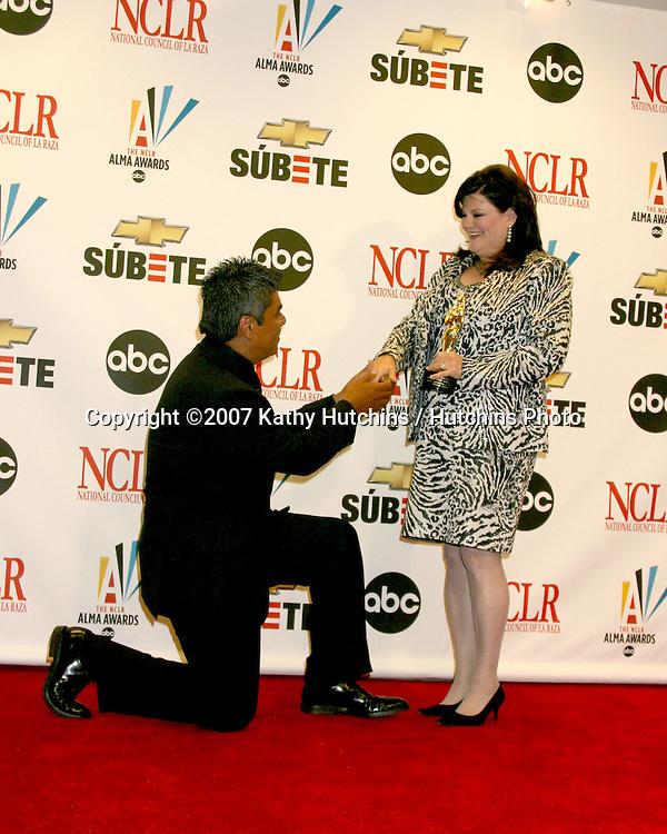George Lopez & Wife Ann.ALMA Awards 2007.Pasadena Civic Auditorium.Pasadena, CA.June 1, 2007.©2007 Kathy Hutchins / Hutchins Photo....
