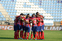 SANTA MARTA - COLOMBIA, 26-01-2019: Jugadores de Unión oran previo al partido por la fecha 1 entre Unión Magdalena y Jaguares FC de la Liga Águila I 2019 jugado en el estadio Sierra Nevada de la ciudad de Santa Marta. / Players of Union pray prior the match for the date 1 between Union Magdalena and Jaguares FC of the Aguila League I 2019 played at Sierra Nevada stadium in Santa Marta city. Photo: VizzorImage / Gustavo Pacheco / Cont