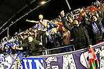 Deportivo Alaves' supporters celebrate the victory in the Spanish Kings Cup semifinal. February 08,2017. (ALTERPHOTOS/Acero)