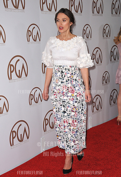 Keira Knightley at the 26th Annual Producers Guild Awards at the Hyatt Regency Century Plaza Hotel.<br /> January 24, 2015  Los Angeles, CA<br /> Picture: Paul Smith / Featureflash