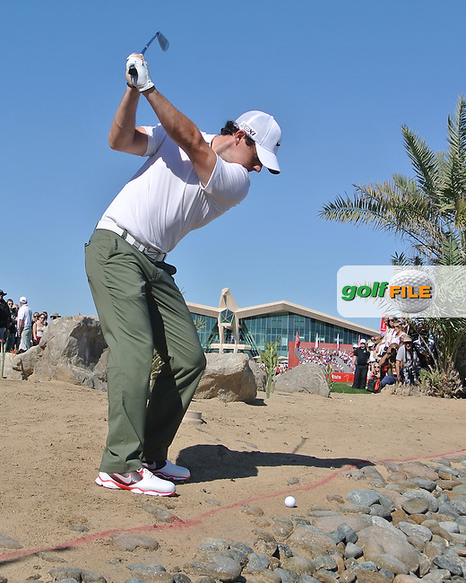 Rory McIlroy (NIR) on the 9th during the second round at the Abu Dhabi HSBC Golf Championship in the Abu Dhabi golf club, Abu Dhabi, UAE..Picture: Fran Caffrey/www.golffile.ie.