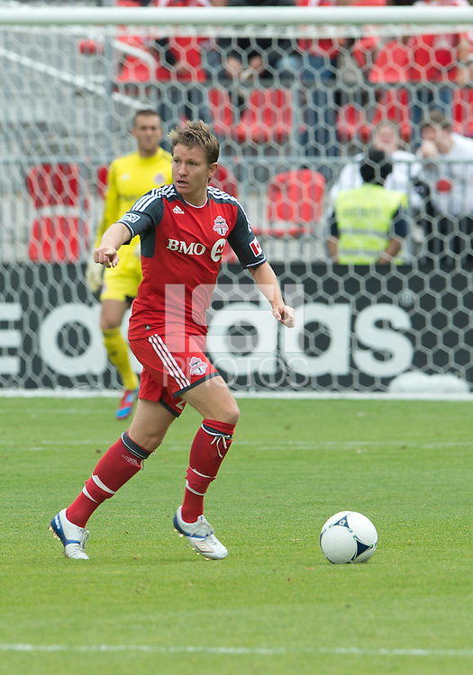 15 September 2012: Toronto FC midfielder Terry Dunfield #23 in action during an MLS game between the Philadelphia Union and Toronto FC at BMO Field in Toronto, Ontario..The game ended in a 1-1 draw..