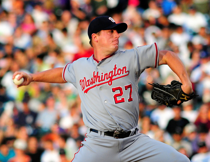 July 5, 2009: Nationals starting pitcher and 2009 Rookie of the Year candidate Jordan Zimmermann during a regular season game between the Washington Nationals and the Colorado Rockies at Coors Field in Denver, Colorado. The Rockies evened the series by beating the Nationals 5-4.