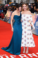 Jessica Brown Findlay &amp; Lily James at 'The Guernsey Literary and Potato Peel Pie Society' film premiere, London, UK. <br /> 09 April  2018<br /> Picture: Steve Vas/Featureflash/SilverHub 0208 004 5359 sales@silverhubmedia.com