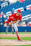 26 February 2019: St. Louis Cardinals pitcher Chasen Shreve on the mound during a Spring Training game against the Washington Nationals at the Ballpark of the Palm Beaches in West Palm Beach, Florida. The Cardinals defeated the Nationals 6-1 in Grapefruit League play. Mandatory Credit: Ed Wolfstein Photo *** RAW (NEF) Image File Available ***
