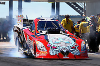 Sept. 21, 2013; Ennis, TX, USA: NHRA funny car driver Chad Head during the Fall Nationals at the Texas Motorplex. Mandatory Credit: Mark J. Rebilas-