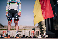 World Champion Peter Sagan (SVK/Bora-Hansgrohe) at the team presentation of the 116th Paris-Roubaix (1.UWT), 1 day prior to the race
