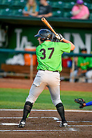 Anthony Villa (37) of the Great Falls Voyagers at bat against the Ogden Raptors in Pioneer League action at Lindquist Field on August 18, 2016 in Ogden, Utah. Ogden defeated Great Falls 10-6. (Stephen Smith/Four Seam Images)