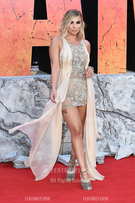 Olivia Buckland arriving for the &quot;Rampage&quot; premiere at the Cineworld Empire Leicester Square, London, UK. <br /> 11 April  2018<br /> Picture: Steve Vas/Featureflash/SilverHub 0208 004 5359 sales@silverhubmedia.com
