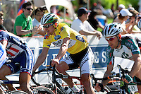 Floyd Landis, of Phonak Hearing Systems, races in Alpharetta, Ga. during the Stage 6 finishing circuits of the Ford Tour de Georgia on Sunday, April 23, 2006. Juan Jos&eacute; Haedo of Toyota-United Pro won the 118.2-mile (190.2-km) stage from Cumming to Alpharetta. Landis won the entire Tour de Georgia stage race.<br />