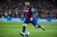29th October 2019; Camp Nou, Barcelona, Catalonia, Spain; La Liga Football, Barcelona versus Real Valladolid; 10 Lionel Messi crosses into the box - Editorial Use