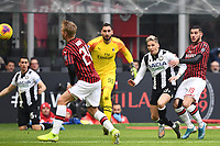 Jens Stryger Larsen of Udinese Calcio scores the goal of 0-1 <br /> Milano 19/01/2020 Stadio Giuseppe Meazza <br /> Football Serie A 2019/2020 <br /> AC Milan - Udinese Calcio <br /> Photo Image Sport / Insidefoto