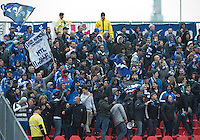 20 October 2012: Montreal Impact fans show their support during an MLS game between the Montreal Impact and Toronto FC at BMO Field in Toronto, Ontario Canada. .The ended in a 0-0 draw..