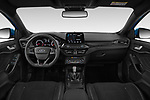 Stock photo of straight dashboard view of a 2019 Ford Focus ST Base 5 Door Hatchback