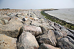 June 2009. Innovative scheme for farmers to sell land for housing to pay for coastal defences. Bawdsey, Suffolk, England