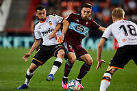 1st February 2020; Mestalla, Valencia, Spain; La Liga Football,Valencia versus Celta Vigo; Juan Beltran of Celta is challenged by Francis Coquelin and Daniel Wass of Valencia CF