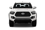 Car photography straight front view of a 2020 Toyota Tacoma TRD-Off-Road 4 Door Pick-up Front View