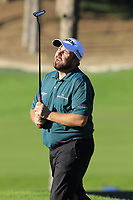 Shane Lowry (IRL) misses his birdie putt on the 17th green during Thursday's Round 1 of the 2018 Turkish Airlines Open hosted by Regnum Carya Golf &amp; Spa Resort, Antalya, Turkey. 1st November 2018.<br /> Picture: Eoin Clarke | Golffile<br /> <br /> <br /> All photos usage must carry mandatory copyright credit (&copy; Golffile | Eoin Clarke)