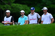 Potomac, MD - July 1, 2017: Wesley Bryant and his caddie William Lanier wait to tee off with Billy Horschel and his caddie Josh Cassell during Round 3 of professional play at the Quicken Loans National Tournament at TPC Potomac at Avenel Farm in Potomac, MD, July 1, 2017.  (Photo by Don Baxter/Media Images International)