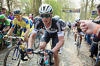 Iljo Keisse (BEL/OPQS) up the Taaienberg<br /> <br /> 57th E3 Harelbeke 2014