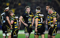 Northampton Saints players look on during a break in play. European Rugby Champions Cup match, between Northampton Saints and Leinster Rugby on December 9, 2016 at Franklin's Gardens in Northampton, England. Photo by: Patrick Khachfe / JMP