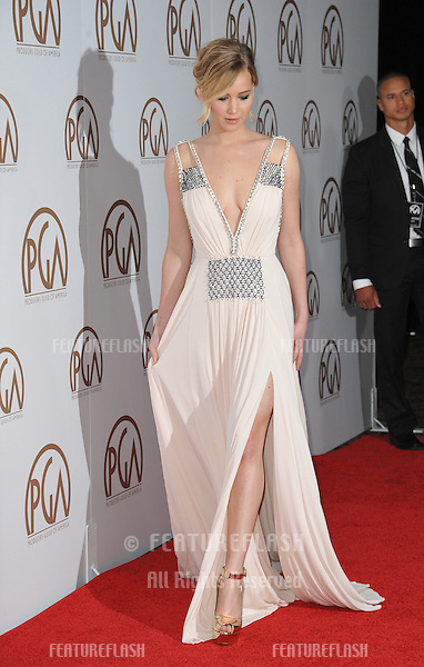 Jennifer Lawrence at the 26th Annual Producers Guild Awards at the Hyatt Regency Century Plaza Hotel.<br /> January 24, 2015  Los Angeles, CA<br /> Picture: Paul Smith / Featureflash